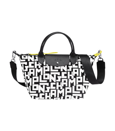 Le Pliage LGP Top-Handle Bag S Black and White