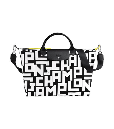Le Pliage LGP Top-Handle Bag L Black and White