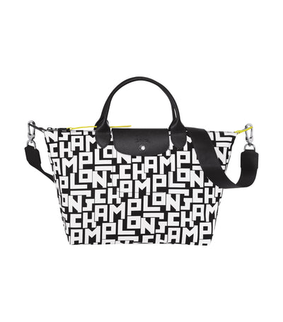 Le Pliage LGP Top-Handle Bag M Black and White