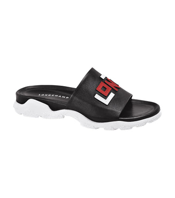 Le Pliage Cuir LGP Mules Black/Red