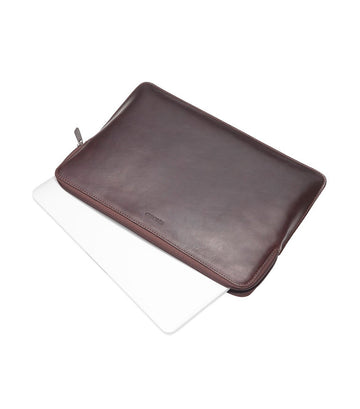 "Barbican Leather 13"" Laptop Sleeve Brown"