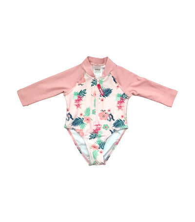 banz long sleeves uv swimsuit - pansy pink