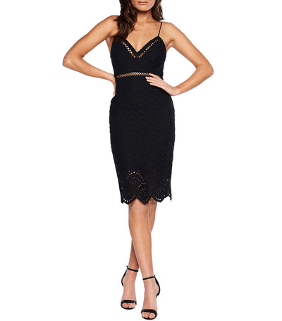 Sofia Embroidered Dress Black