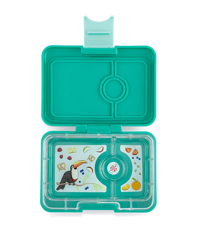 yumbox mint green minisnack snack box