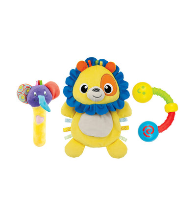 winfun lion comforter rattle set