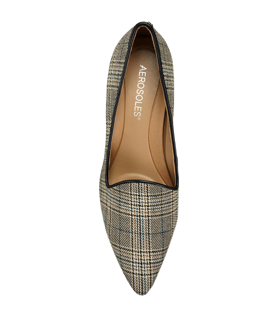 Macrame Pointed Toe Pumps Taupe Combo