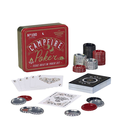 Wild & Wolf Campfire Texas Hold'em Travel Poker Set