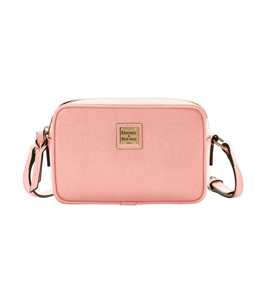Saffiano Camera Crossbody Pale Pink