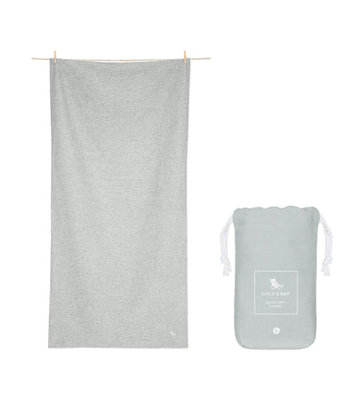 Dock & Bay Eco Active Towel - Mountain Gray
