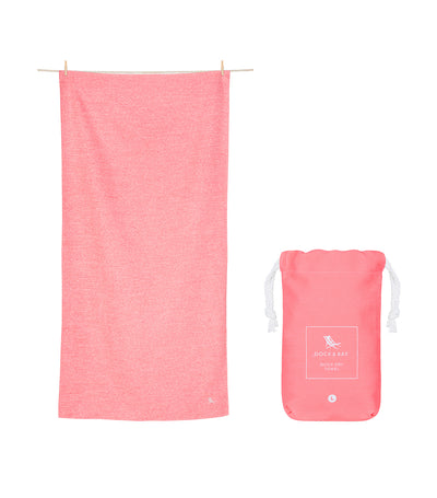 Dock & Bay Eco Active Towel - Volcanic Red