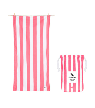 Dock & Bay Cabana Quick Dry Towel - Kuta Pink