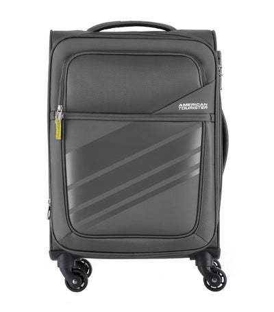 american tourister stirling spinner 56/20 expandable tsa dark gray