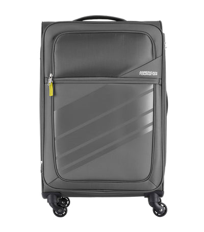 american tourister stirling spinner 68/25 expandable tsa dark gray