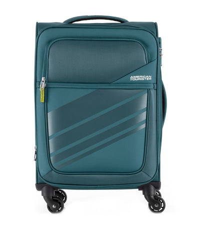 american tourister stirling spinner 56/20 expandable tsa teal