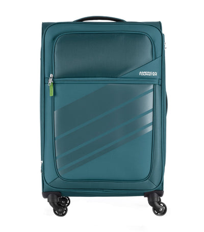 american tourister stirling spinner 68/25 expandable tsa teal