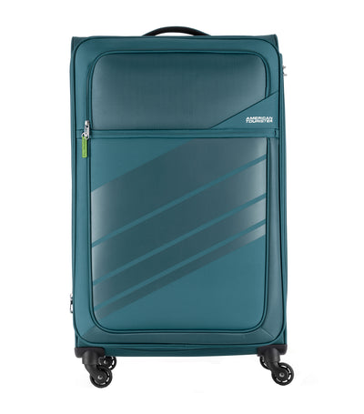 american tourister stirling spinner 79/29 expandable tsa teal