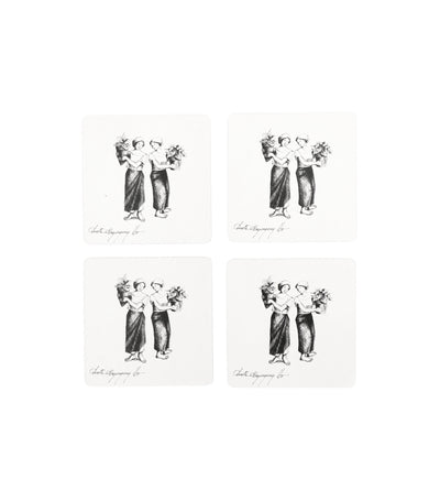 Anita Magsaysay Ho Women with Plotted Plants Coaster Set