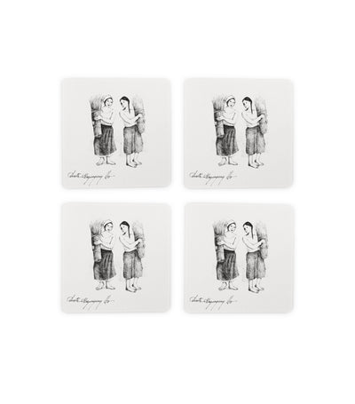 Anita Magsaysay Ho Women with Reeds Coaster Set