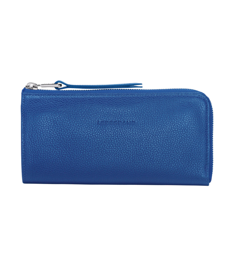Le Foulonné Long Zip-Around Wallet Sapphire