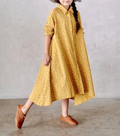 laila & lyra asher dress - mustard