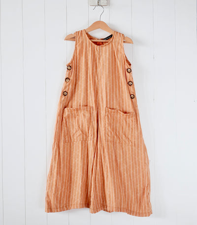 laila & lyra corbin jumpsuit - orange