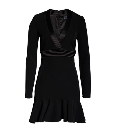 Mini Ruffle Dress Black
