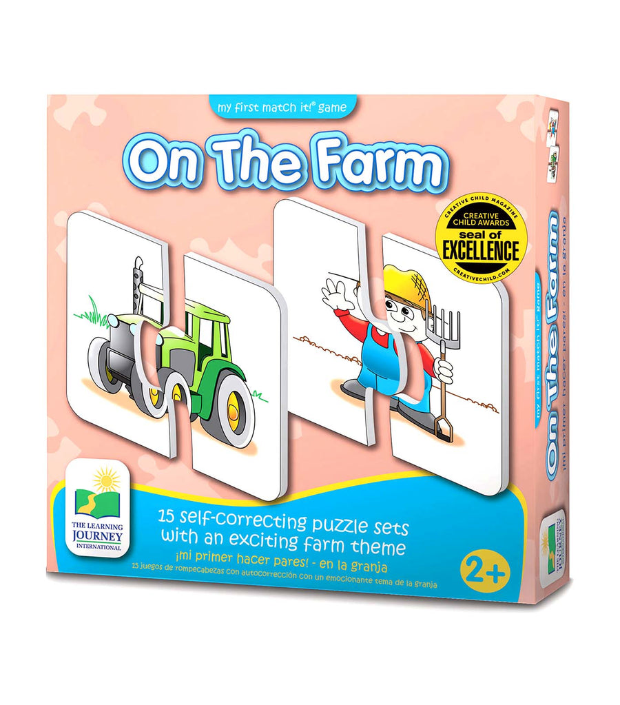 the learning journey my first match it game! - on the farm