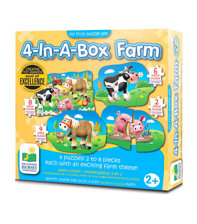 the learning journey my first puzzle sets - 4-in-a-box farm