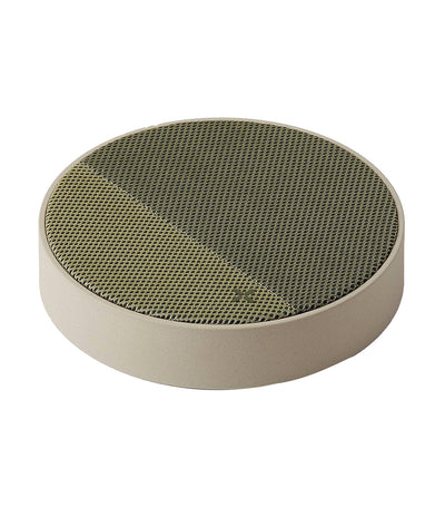 Oslo Energy Wireless Charger Speaker Light Gray and Green