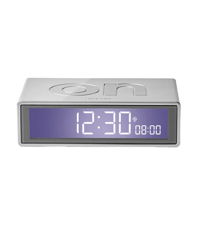 Flip+ Travel Alarm Clock Glossy Gunmetal