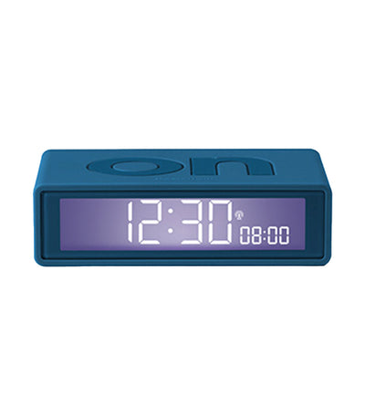 Flip+ Travel Alarm Clock Rubber Duck Blue