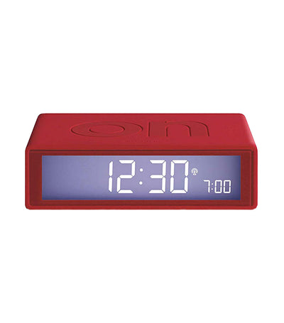 Flip+ Travel Alarm Clock Rubber Red