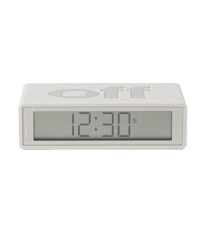 Flip+ Travel Alarm Clock Rubber White