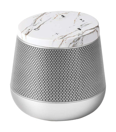 Miami Sound Bluetooth Speaker White Marble and Aluminum