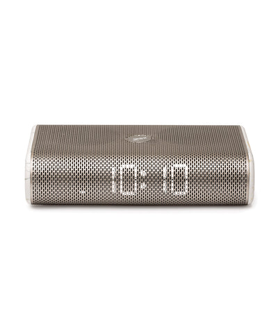 Miami Time Clock Radio Speaker Aluminum