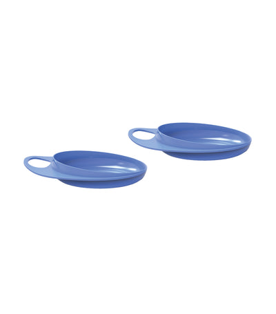 nuvita easy eating plate set of 2 blue