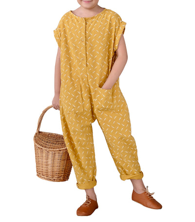 laila & lyra delaney yellow jumpsuit