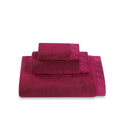 Natori Fretwork Towel - Dragon Fruit