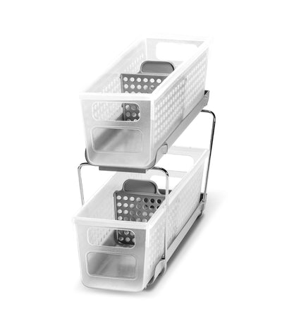 MakeRoom Mini Two-Tier Organizer with Dividers