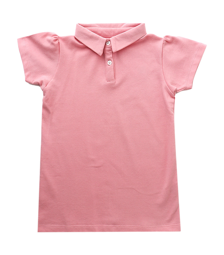 rustanette pink faith pique polo shirt