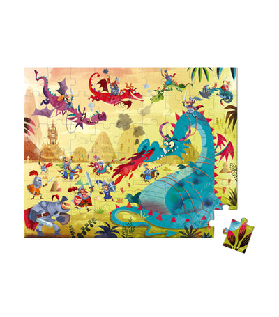 janod hat boxed puzzle dragons 54 pieces