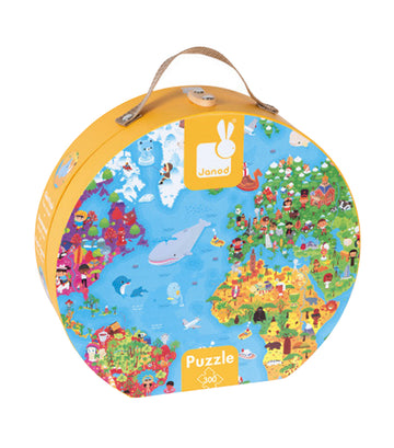 janod hat boxed giant puzzle world map 300 pieces
