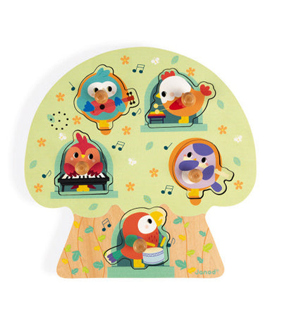 janod musical puzzle - birdy puzzle