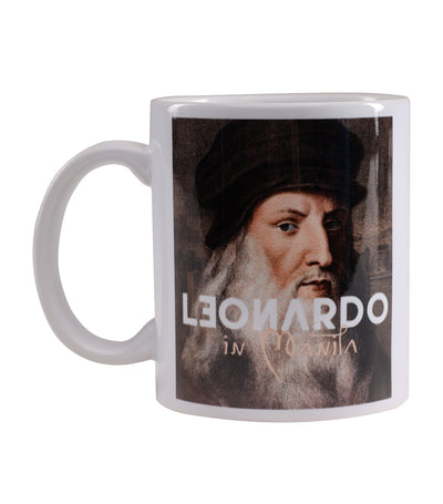rustan's for the arts leonardo white mug