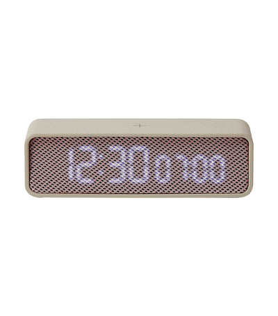 Oslo Time Digital Clock Light Gray and Pink