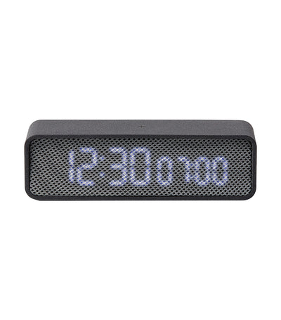 Oslo Time Digital Clock Dark Gray and Light Gray