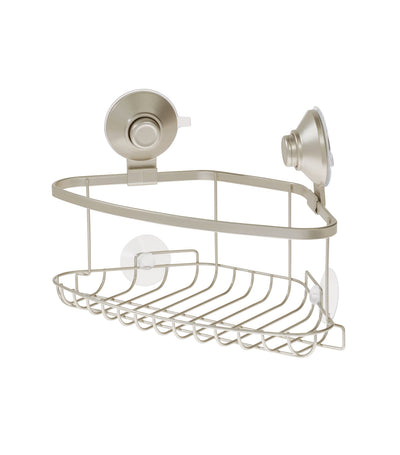 MakeRoom Everett Push Lock Corner Basket - Satin