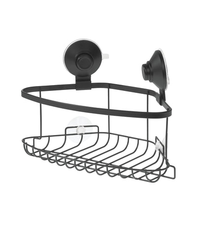 MakeRoom Everett Push Lock Corner Basket - Black