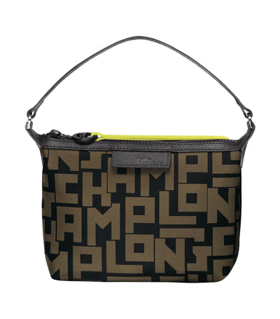 Le Pliage LGP Clutch Black and Khaki