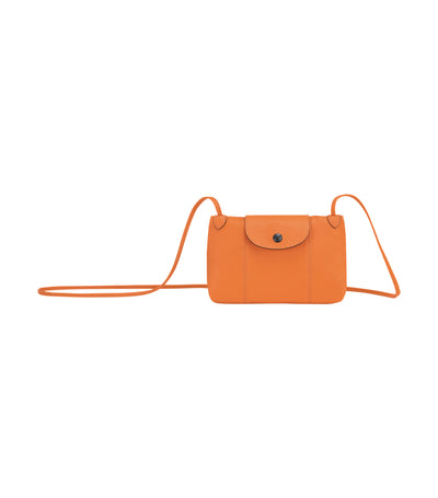 Le Pliage Cuir Crossbody Orange